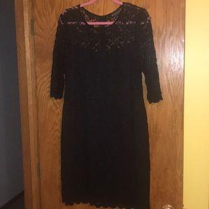 Dresses & Skirts - Black lace cocktail dress 3/4 sleeve